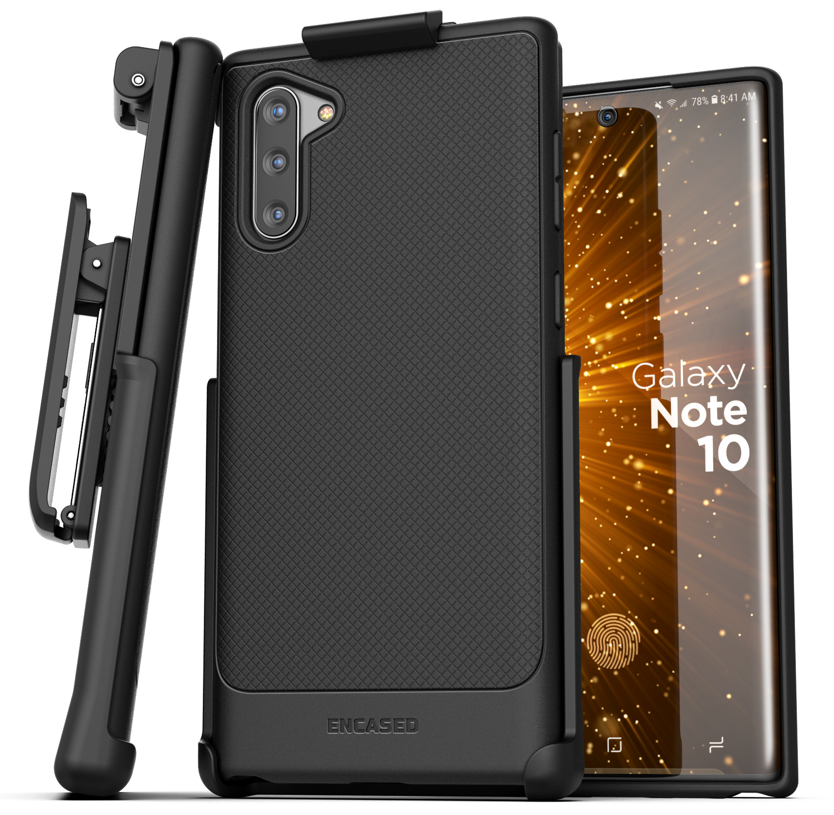 Galaxy Note 10 Case Belt Clip Slim Grip Cover with Holster